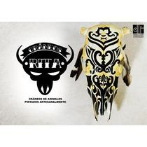 Cráneo De Vaca Pintado Arte Decorativo Campo Country Quincho