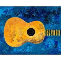 Pintura Original Enrique Llorens Guitarra, Música, Universo