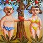 Adan Y Eva - Acrilico Original De Alejandra Salgado Art 774