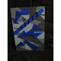 Cuadro Abstracto Con Relieve / Medidas 44,5 Cm X 30 Cm