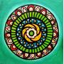 Cuadros Modernos Decoración Mandala Círculo Acrílico A Mano