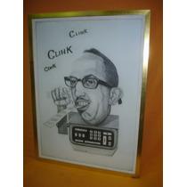 Cuadro Caricatura Lapiz Autor Jorge Omar Franco / 75 (0898)