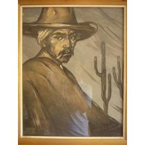 Antigua Pintura Año 1932. Paisano Catamarqueño De H. Pereyra