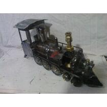 Artesanía En Hierro Reciclado. Tren Antigua.