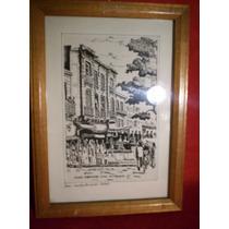 Cuadro Tinta Original De Dinwoodie - Motivo: Plaza Dorrego