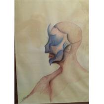 Cuadro Y Dibujo Original Del Artista Eduardo Silva, De 1980