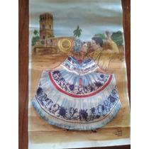 Lámina Dibujo - Retrato Folckore De Panamá