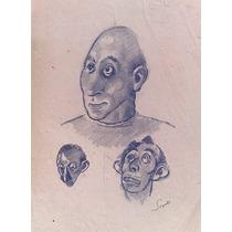 Ernesto Scotti Dibujo Original Lapiz Sobre Papel 30 X 22cm