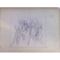 Ernesto Scotti Dibujo Original, Lapiz Sobre Papel 20 X 27 Cm