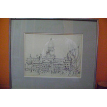 Dibujo Lapiz Guido Bruveris, El Congreso.