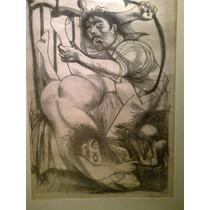 Carlos Alonso Litografia Firmada Y Enmarcada