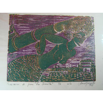 Dibujo/ Mascaron De Proa La Sirenita / Xilografia