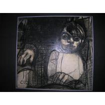Maternidad Dibujo Al Pastel Firmado