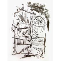 Dibujo En Carbonilla Sobre Papel (obra Original Firmada)