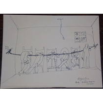 Dibujo Original Tinta Juan Carlos Espeche 2004