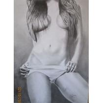 Desnudo Mujer Dibujo A Lapiz
