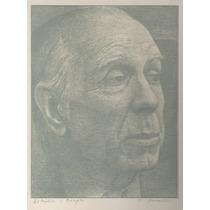 Arte Argentino : Ducmelic, Z - Borges, J L - Grabado Firmado