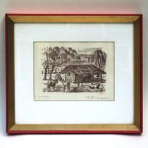Litografía Original Rancho Firmada Fábregas Óptimo Estado!