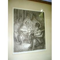Cuadro Litografia Gauchesca Martin Fierro Original (01031x)f