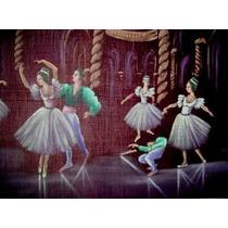 Pintura Oleo Bailarinas Clásicas Cuadro Marco Antiguo Retro