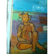 Bruno Venier, Mujeres En La Playa, 100 X 140 Aprox Oleo Tela