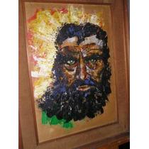 1218- Cuadro Oleo Sobre Hardboard 60x72 Pintura Amontonada