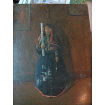 Oleo De Enrique Rodriguez, Mujer Del Norte, 40 X 70