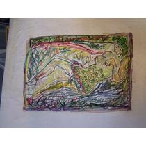 Dibujo Color De Santiago Cogorno 25 X 31 Cm Aprox