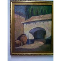 Osman Paez, Gran Obra, Entrada A La Casa Con Jarrones, Tela