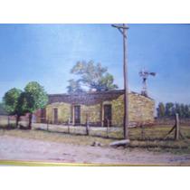 Sebastian Mesa. Obra Costumbrista, Rancho Pampeano 20 X 30