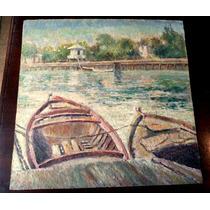 Interesante Oleo Cuadro Pintura Antigua Sin Firma Aparente