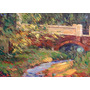 Nº 86 - El Puente Viejo -óleo De Julio Ducuron. Envío Gratis