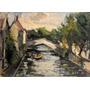 Nº 233-il Ponte A Brugges.bélgica-óleo De Giovanni Balansino
