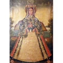 Antiguo Óleo Cuzqueño- Virgen Con Niño Alcalde ( 150076)