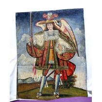 Óleo Sobre Tela Hispano Colonial - Arcangel Arcabucero