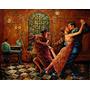 Tango Argentino 0.50x0.40mts Oleo Sobre Tabla