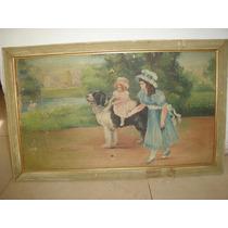 Cuadro Pintura Oleo Firmado 67cm X 42cm