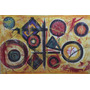 Cuadro Pintura Abstracta Óleo Tela Arte