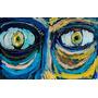 Pintura Original Enrique Llorens Ojos Tecnica Mixta