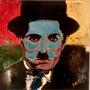 Cuadro Arte Decorativo Retrato De Charles Chaplin