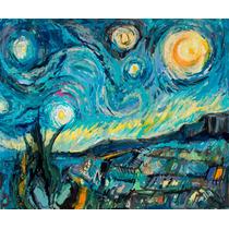 Pintura Enrique Llorens Vangoniano Noche Estrellada-van Gogh