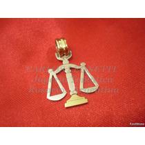 Balanza De La Justicia - Dije En Plata 950 - Detalle En Oro