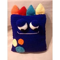 Almohadon Monstruo Crochet Amigurumi El Cristal Encantado