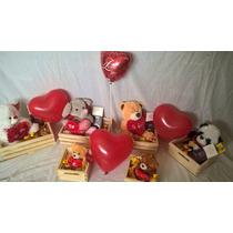 Ositos Peluche Regalo San Valentin Chocolates+ Globo+cajon