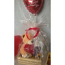 Peluches Set Regalo San Valentin Chocolates+ Globo+cajon