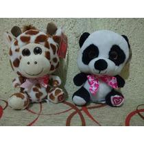 Oso Panda Y Jirafa De Peluche