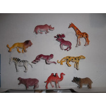 Muñecos De Goma Tipo Zoologico Y Aves X 12 Unidades