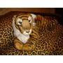 Peluche Replica Tigre De Bengala Blanco Mide 70 Cm.
