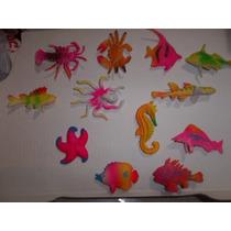 Muñecos De Goma Tipo Animalitos Del Mar X12 Unidades