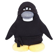 Peluche Club Penguin - Ninja - Sin Moneda